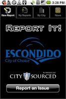 Screenshot of Escondido Report It!