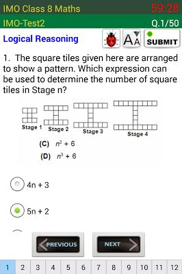 IMO 8 Maths Olympiad - screenshot