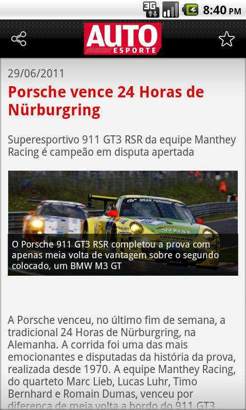 Autoesporte News Mobile - screenshot