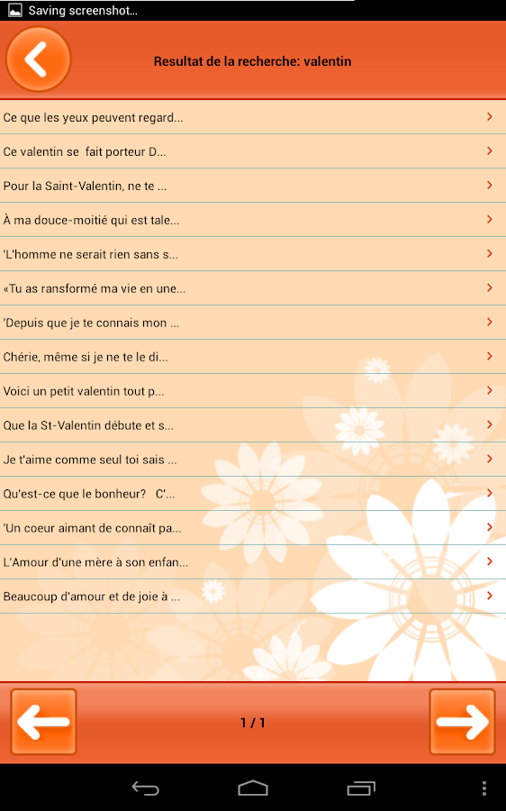 Souhaits différentes occasions - screenshot