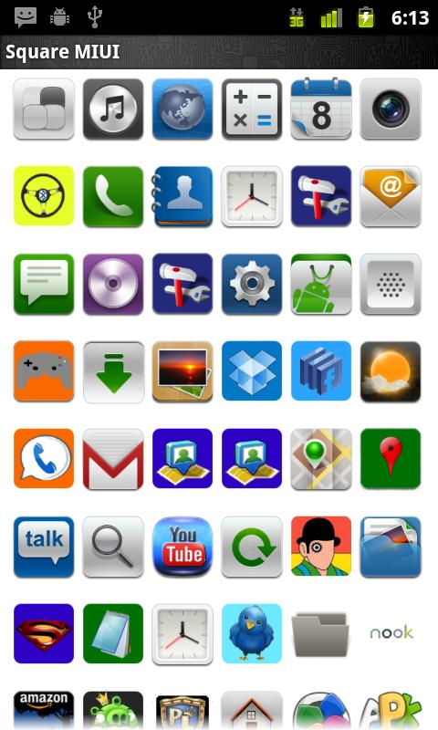 ADW.THEME MIUI Square- screenshot