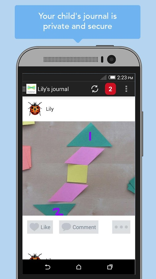 Seesaw Parent Access- screenshot