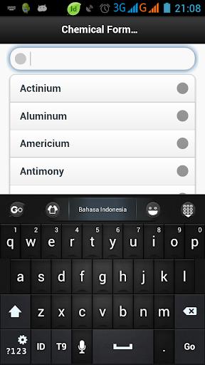 Chemical Formula Dictionary