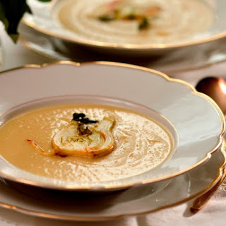 Fennel Cream Soup with Caramelized Fennel
