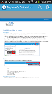 MaaS360 Secure Viewer - náhled