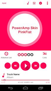 PowerAmp Skin PinkFlat