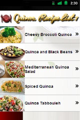 Quinoa Recipes - screenshot