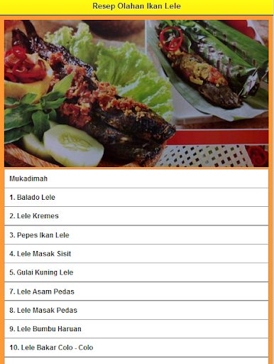 Resep Olahan Ikan Lele