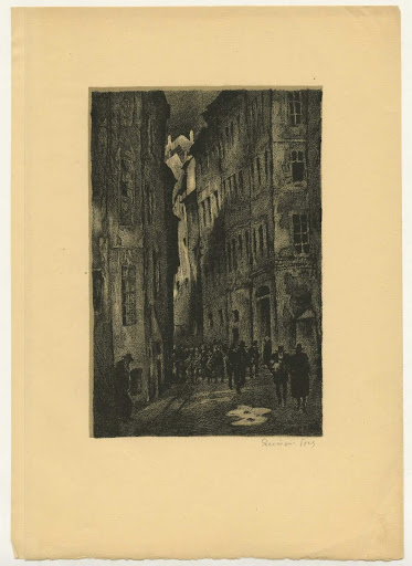 Street Scene: Illustration from Hollunderblüthe, Eight illustrations to narratives by W. Raabe