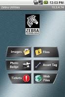 Screenshot of Zebra Utilities