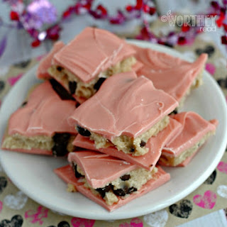 Valentine Chocolate Cookie Dough Bark