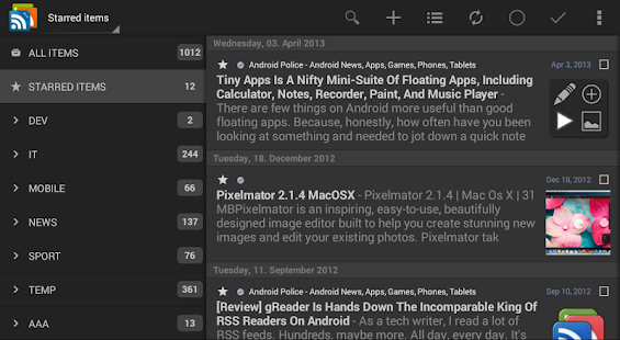 gReader Pro | Feedly | News - screenshot thumbnail