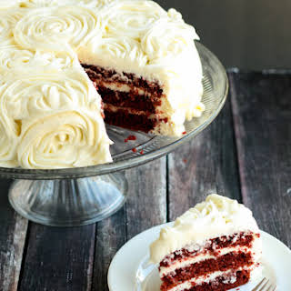 Gluten-Free Red Velvet Cake with Cream Cheese Frosting.