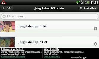 Screenshot of Jeeg Robot D'Acciaio