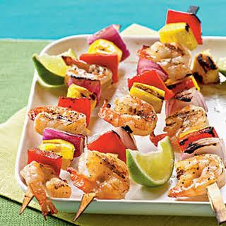 Mango Shrimp Kebabs.