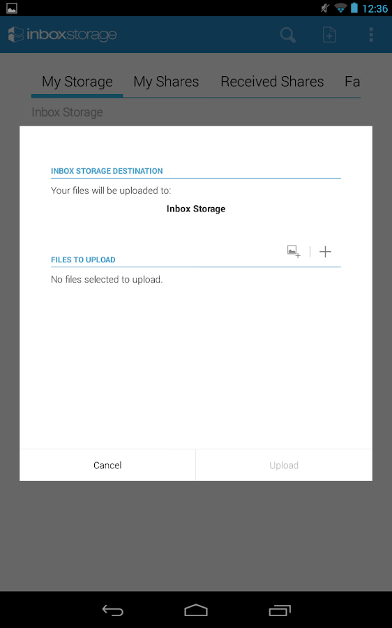 Inbox Storage- screenshot