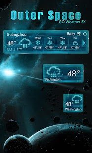 OUTERSPACE THEME GO WEATHER EX- screenshot thumbnail