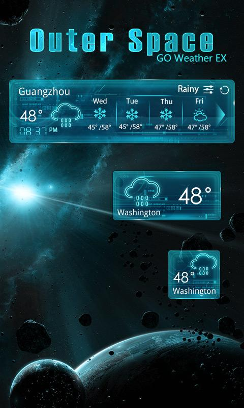 OUTERSPACE THEME GO WEATHER EX- screenshot