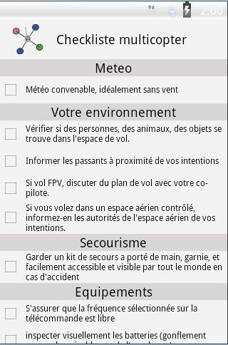 Checklist multirotor
