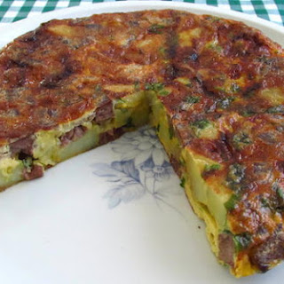 Spanish Omelette With Meat.