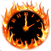 Fire Clock With Alarm