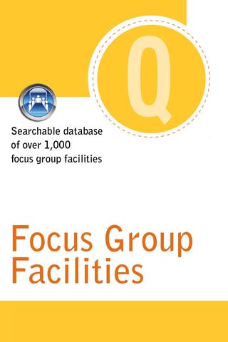 Quirk's Focus Group Facilities - screenshot