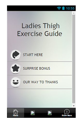 Ladies Thigh Exercise Guide
