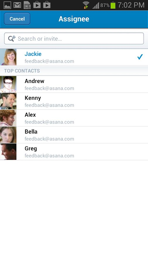 Asana Mobile - screenshot