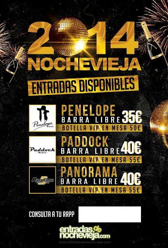 ENTRADAS DE NOCHEVIEJA