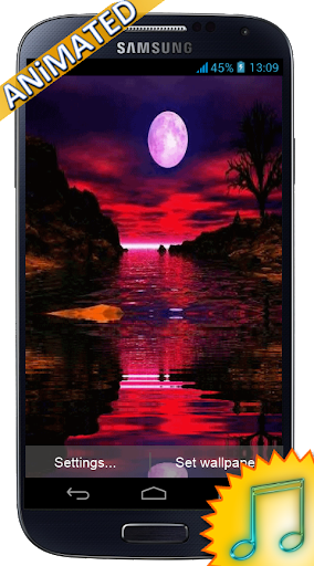Full Moon Animated Wallpaper