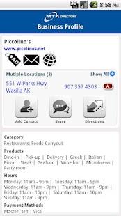 MTA Yellow Pages- screenshot thumbnail