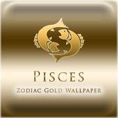 Pisces Zodiac Gold WP