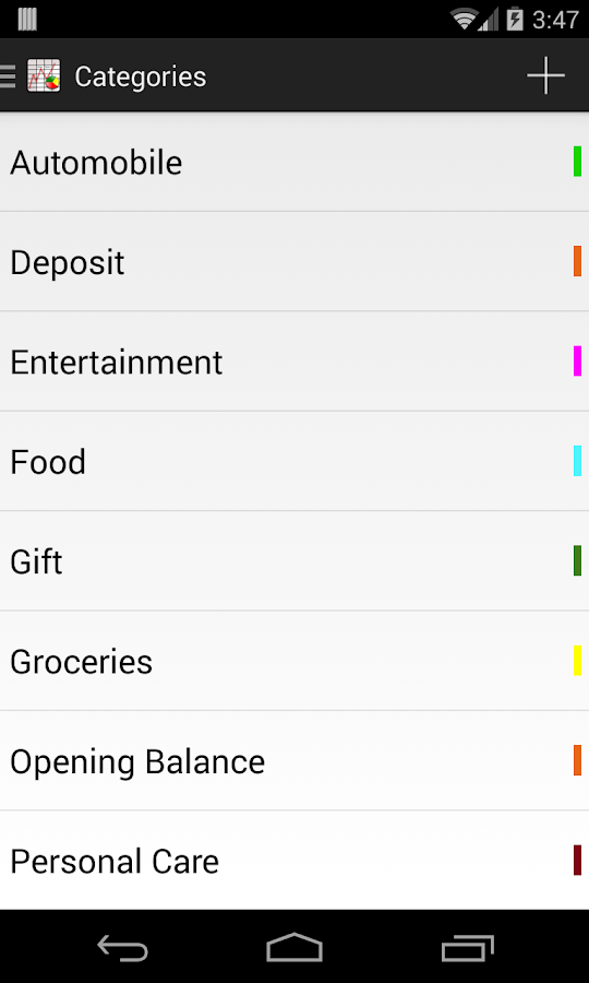 Expense Tracker- screenshot