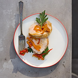Grilled Pork Loin with Peperonata
