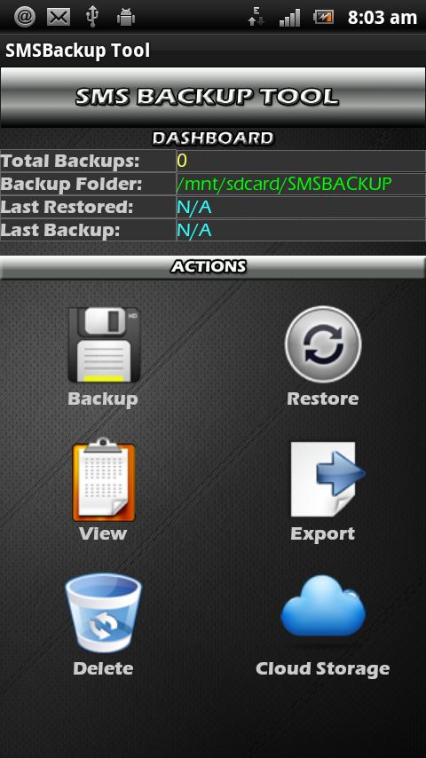 SMSBackup Tool - screenshot