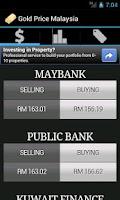 Screenshot of Gold Price Malaysia