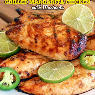 The Best Ever Grilled Margarita Chicken with Marinade.