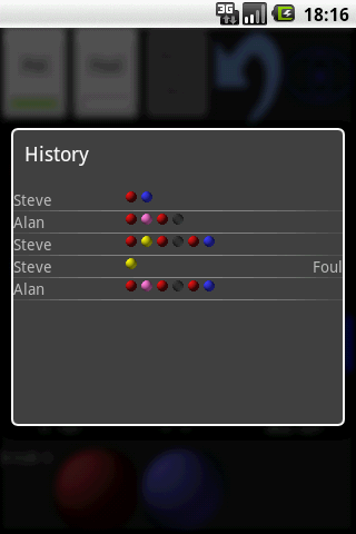 Snooker Scoreboard League - screenshot