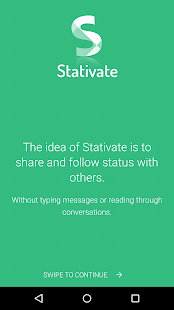 Stativate: Status sharing- screenshot thumbnail