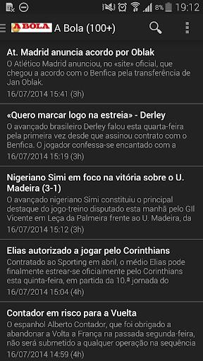 RSS Notícias de Desporto PT
