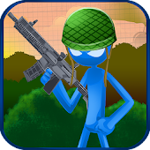 Stickman Shooting Soldiers 2