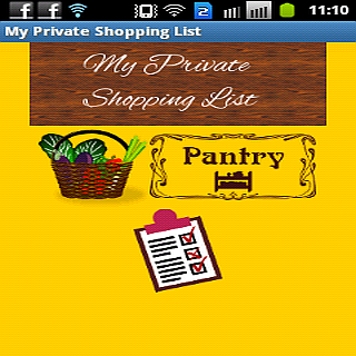 My Private Shopping List