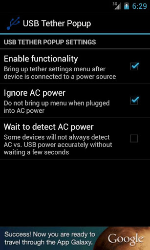 USB Tether Popup Non-UMS Free