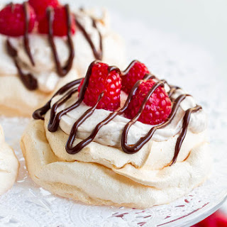 Triple Raspberry Mini Pavlova