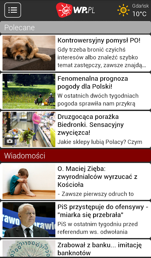 Info WP.PL - screenshot