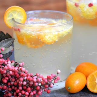 Kumquat and Pink Pepper Spritzer.