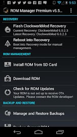 ROM Manager (Premium) Screenshot 1
