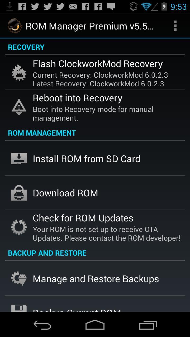 ROM Manager (Premium) screenshot #1