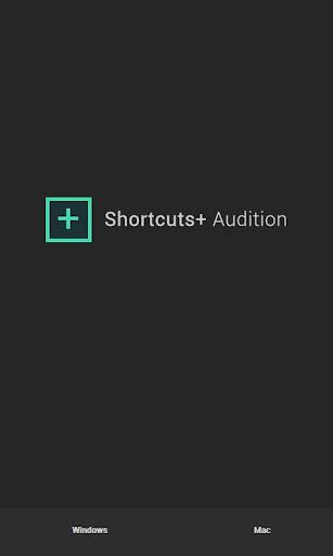 Shortcuts+ Audition