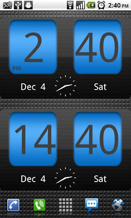 FlipClock Blue Magic Dark 4.5.0 screenshot 201245